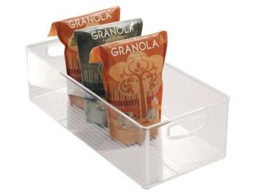 InterDesign Cabinet/Kitchen Binz boîte de rangement, extra-grand bac pour réfrigérateur en plastique, transparent