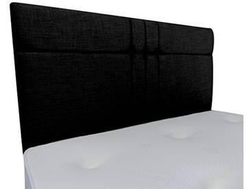 Interiors 2Combinaison U Brooke Parure de lit capitonnée, Tissu, Noir, 7.5x 76x 62cm