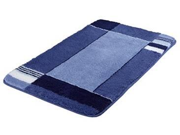 Kleine Wolke 7258769657 Padova Tapis de bain Bleu marine 80 x 140 cm