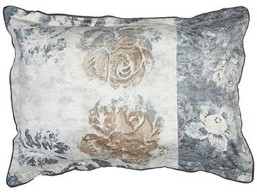 Designers Guild - Damasco Taie doreiller Satin de Coton Graphite 50 x 75 cm