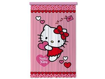 AG Design Hello Kitty Hearts Chambre denfant Rideau Occultant Regroupez-Les, Multicolore, 140 x 245 cm