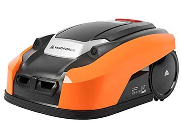 Yard Force Tondeuse Robot Electrique X60i avec Technologie Sensorielle Ultrasonique – Application Connectée - Pelouse jusqu'à 600m², Largeur de coupe 18cm