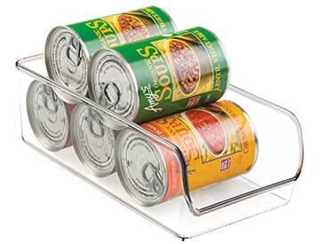InterDesign Linus boite de conservation, moyen organiseur cuisine en plastique solide, transparent