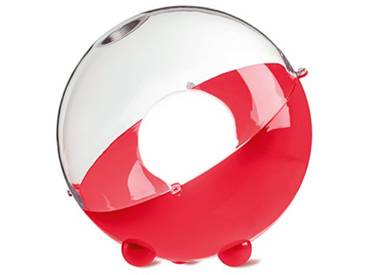 Koziol 1912425 Lampe de Sol Orion Thermoplastique/Acier Inoxydable Transparent/Rouge Framboise 31,5 x 31,5 x 30,5 cm