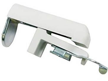 GARDINIA Support de fixation pour stores, Paquets de 2, Blanc, Métal/Plastique, Plage de réglage 6-30 mm