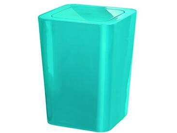 Kleine Wolke 5817766858 James Poubelle à Couvercle Basculant Turquoise 19 x 25 cm (Pack de 2)