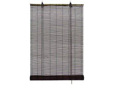 GARDINIA Store à rouleau en bambou brun chocolat, Installation au plafond ou au mur, Translucide, Non transparent, Toutes les pièces dinstallation incluses, 140 x 160 cm (lxL)