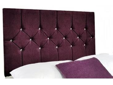 Interiors 2pour u Double Belle Chenille Diamante Cristal/tête de lit, 4cm 15cm, Aubergine