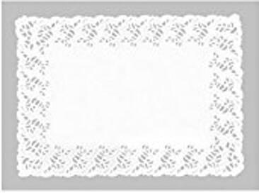 IBILI 701834 Napperons Rectangulaires (10 Uds), Papier, Blanc, 35 x 42 x 1 cm