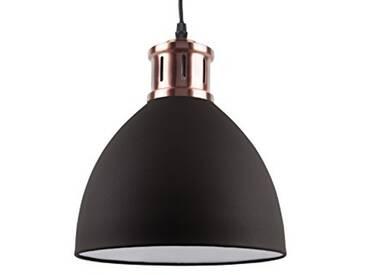 Leitmotiv LM1406 Lampe à Suspension Fer, 40 W, Noir, Taille M