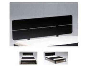 Option tête de lit RONDO 2 panneaux / Noir